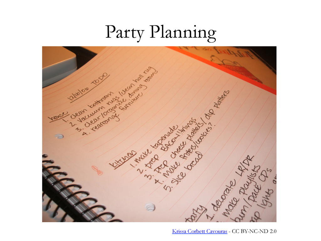 Party Planning Krissa Corbett Cavouras - CC BY-...