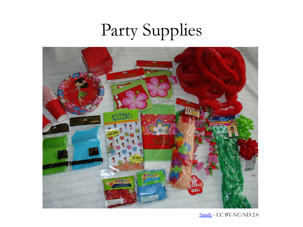 Party Supplies Sandy - CC BY-NC-ND 2.0
