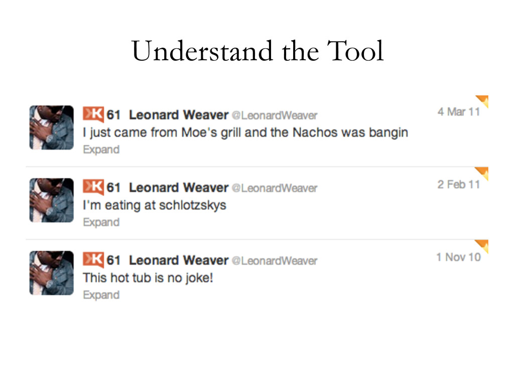 Understand the Tool
