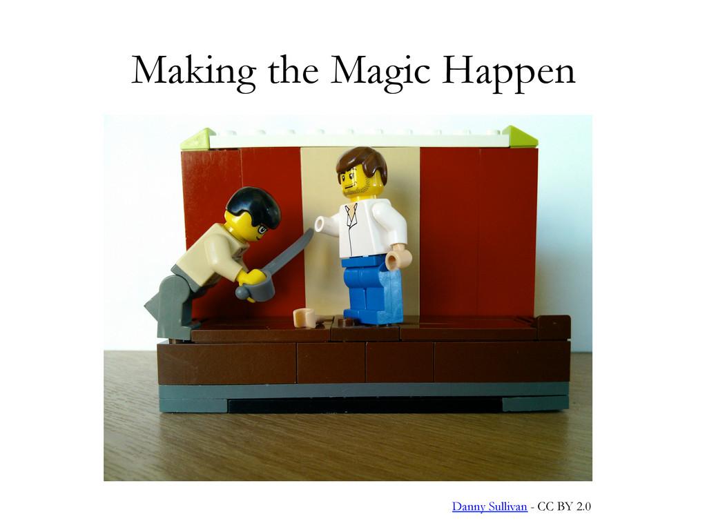 Making the Magic Happen Danny Sullivan - CC BY ...