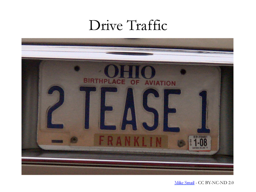 Drive Traffic Mike Smail - CC BY-NC-ND 2.0