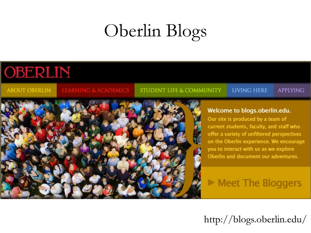 Oberlin Blogs http://blogs.oberlin.edu/