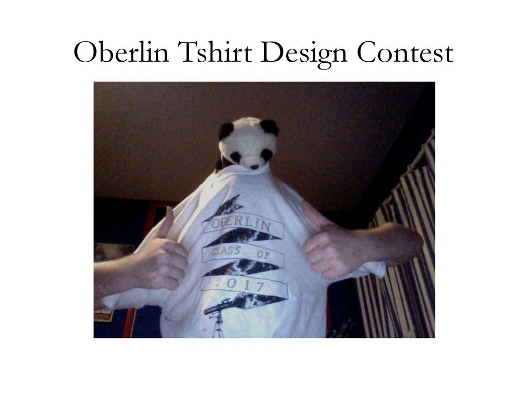 Oberlin Tshirt Design Contest