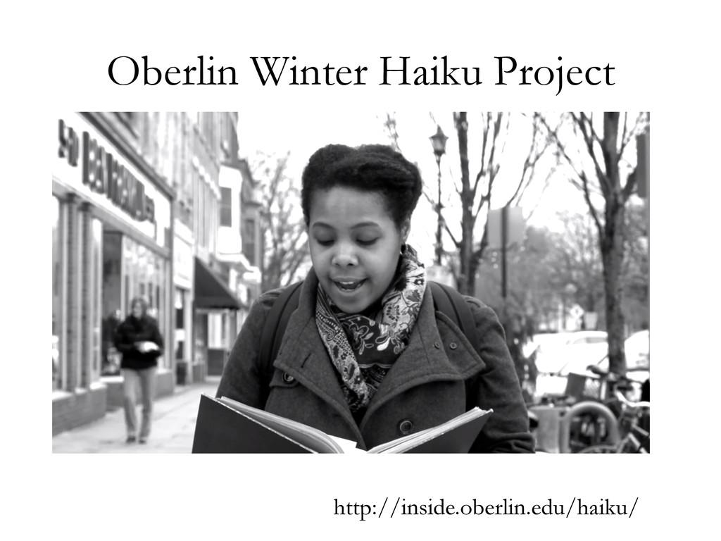 Oberlin Winter Haiku Project http://inside.ober...