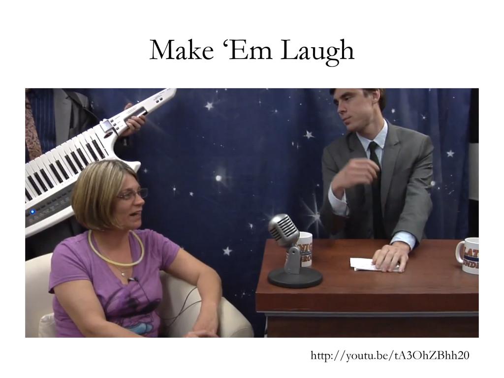 Make 'Em Laugh http://youtu.be/tA3OhZBhh20