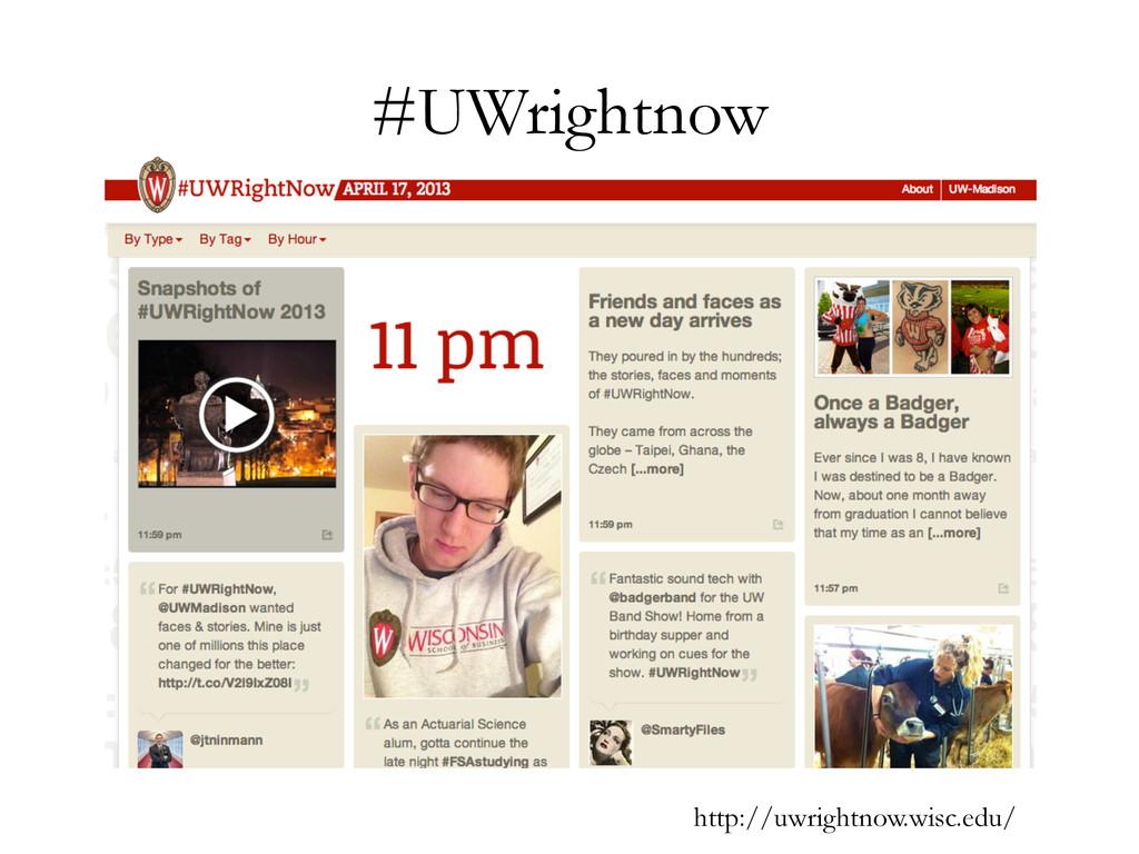 #UWrightnow http://uwrightnow.wisc.edu/