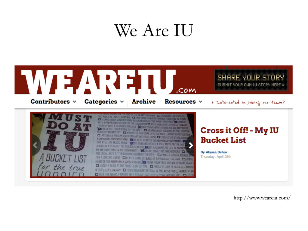 We Are IU http://www.weareiu.com/