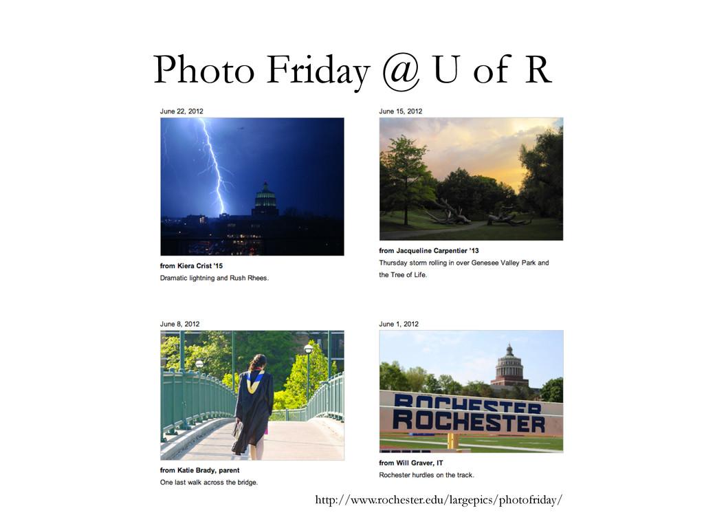 Photo Friday @ U of R http://www.rochester.edu/...
