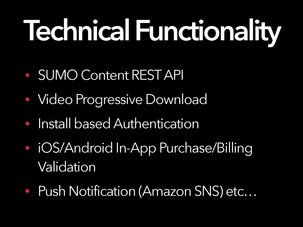 Technical Functionality • SUMO Content REST API...