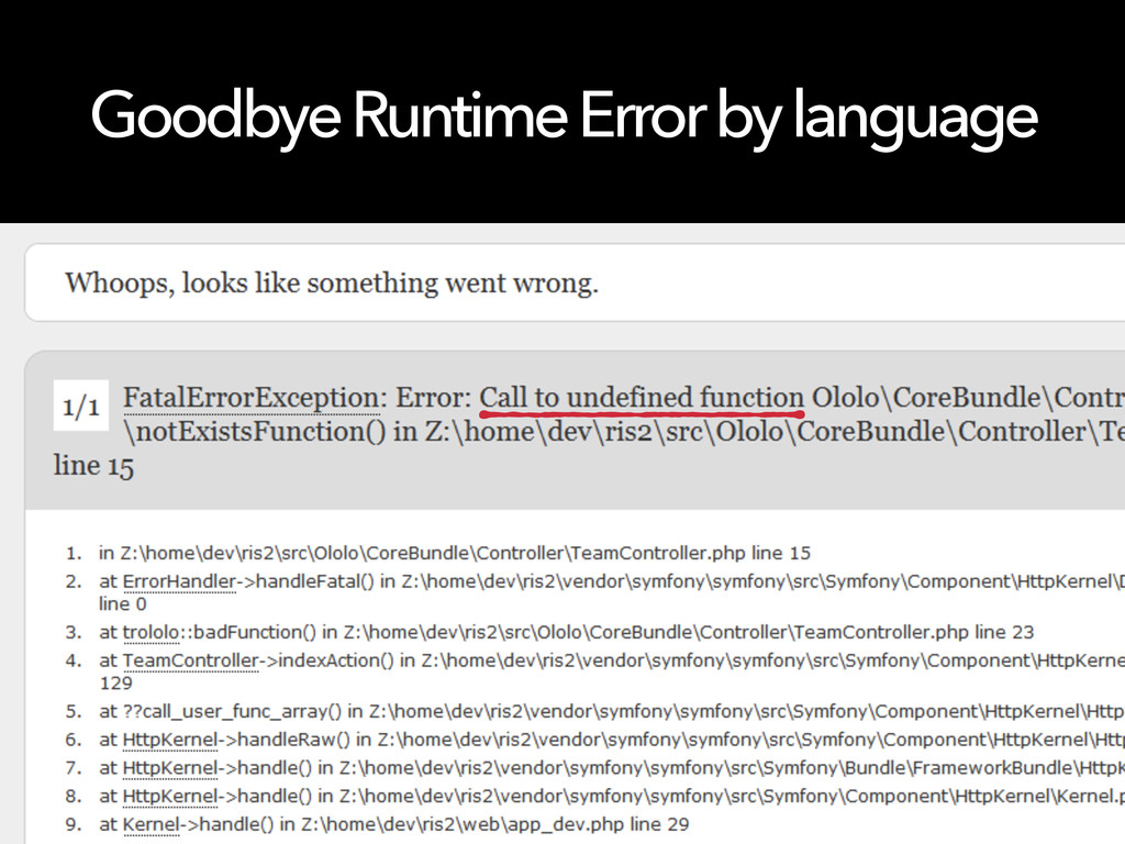 Goodbye Runtime Error by language