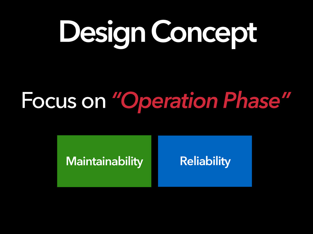 "Design Concept Focus on ""Operation Phase"" Maint..."