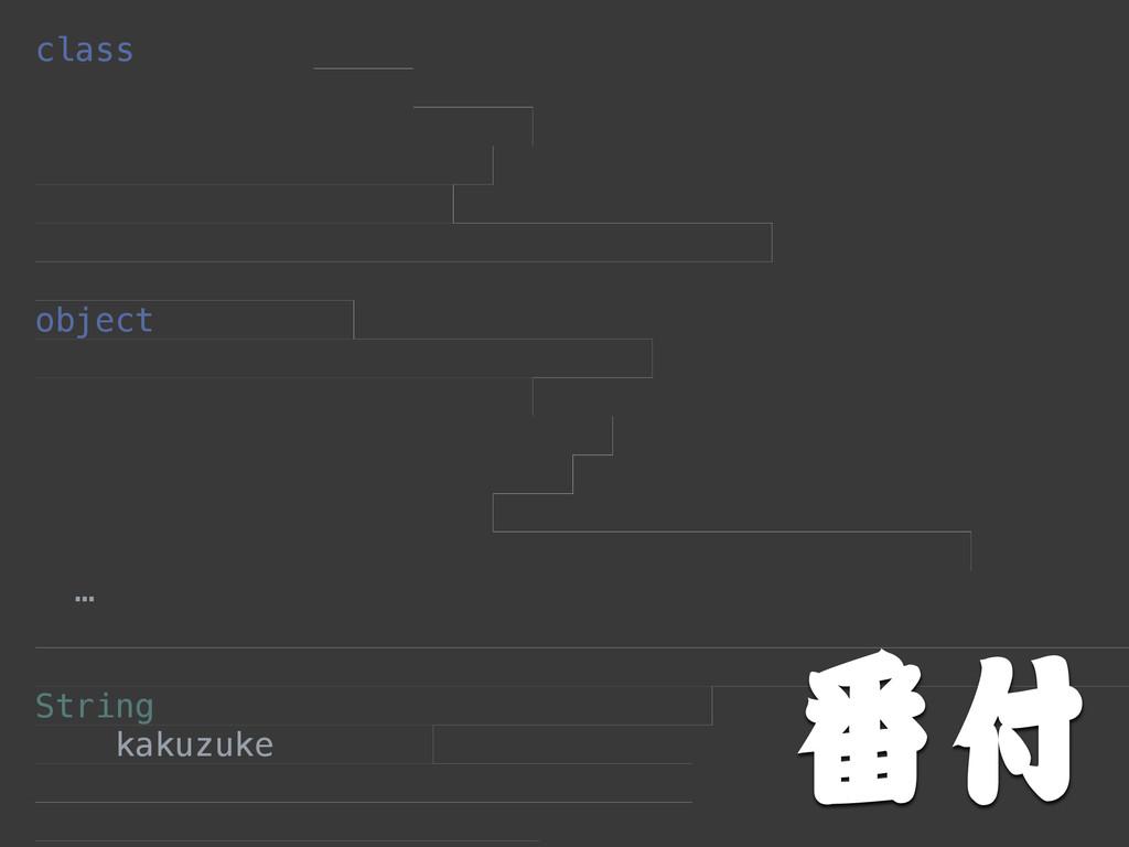 class  object …  String kakuzuke  番付