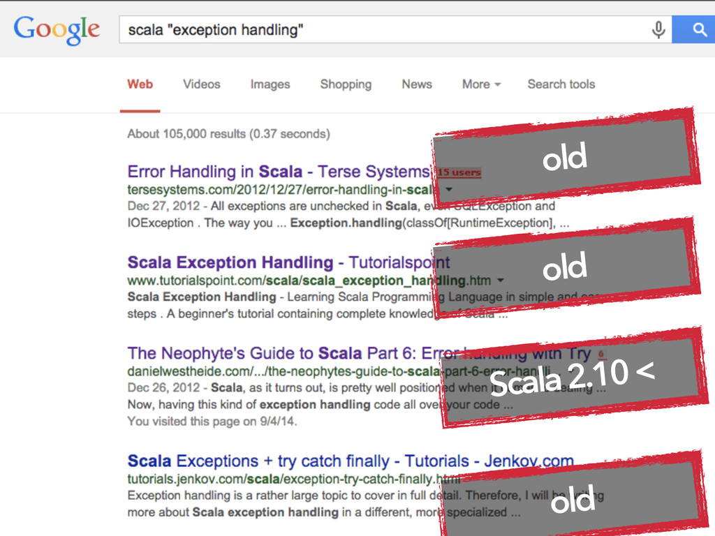 old Scala 2.10 < old old