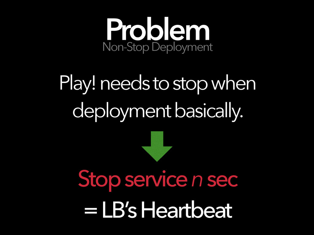 Play! needs to stop when deployment basically. ...