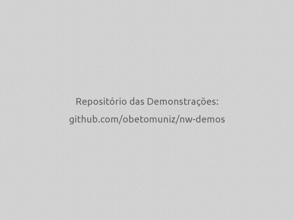 Repositório das Demonstrações: github.com/obeto...