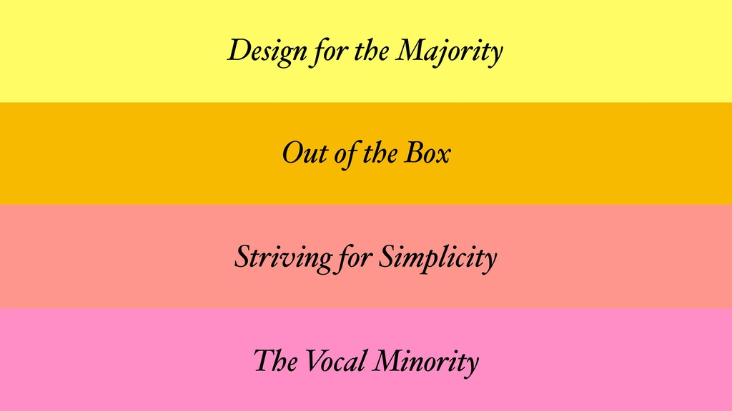 Out of the Box Striving for Simplicity The Voca...