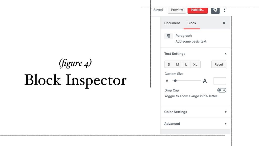 (figure 4) Block Inspector