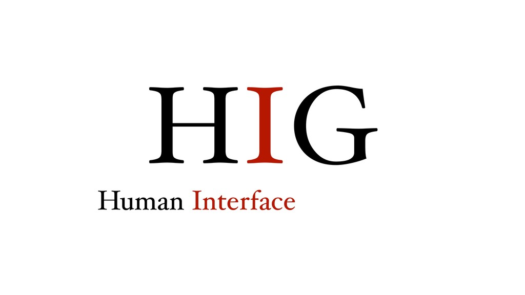 HIG Human Interface