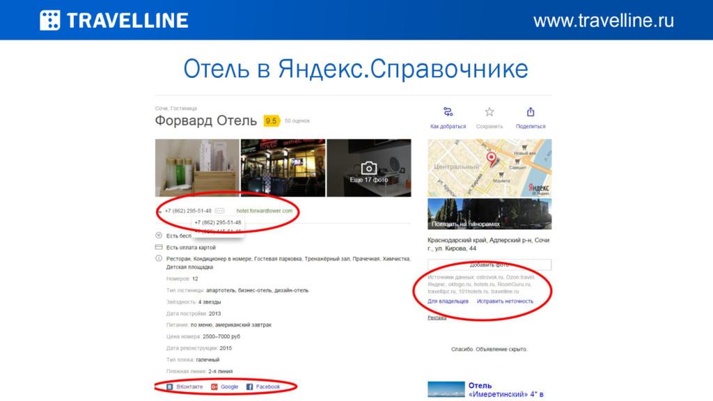 Отель в Яндекс.Справочнике