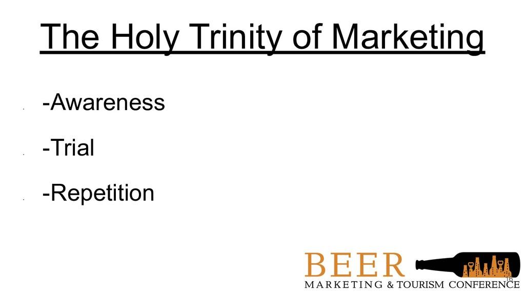 The Holy Trinity of Marketing • -Awareness • -T...