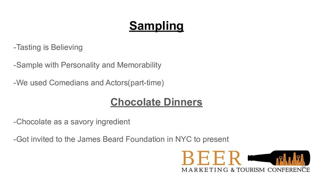 Sampling -Tasting is Believing -Sample with Per...