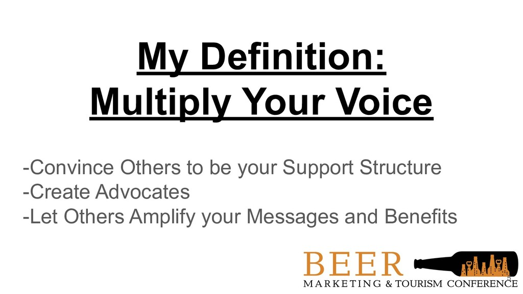 My Definition: Multiply Your Voice -Convince Ot...
