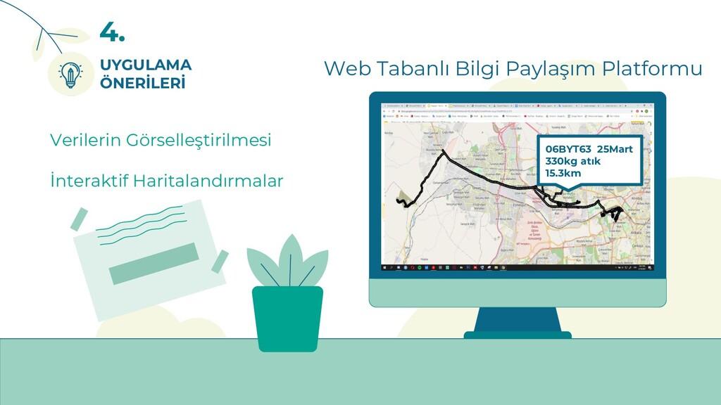 UYGULAMA ÖNERİLERİ 4. Web Tabanlı Bilgi Paylaşı...
