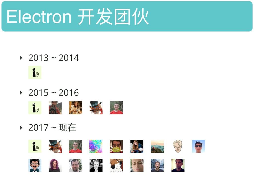 Electron 开发团伙 ‣ 2013 ~ 2014 ‣ 2015 ~ 2016 ‣ 2...