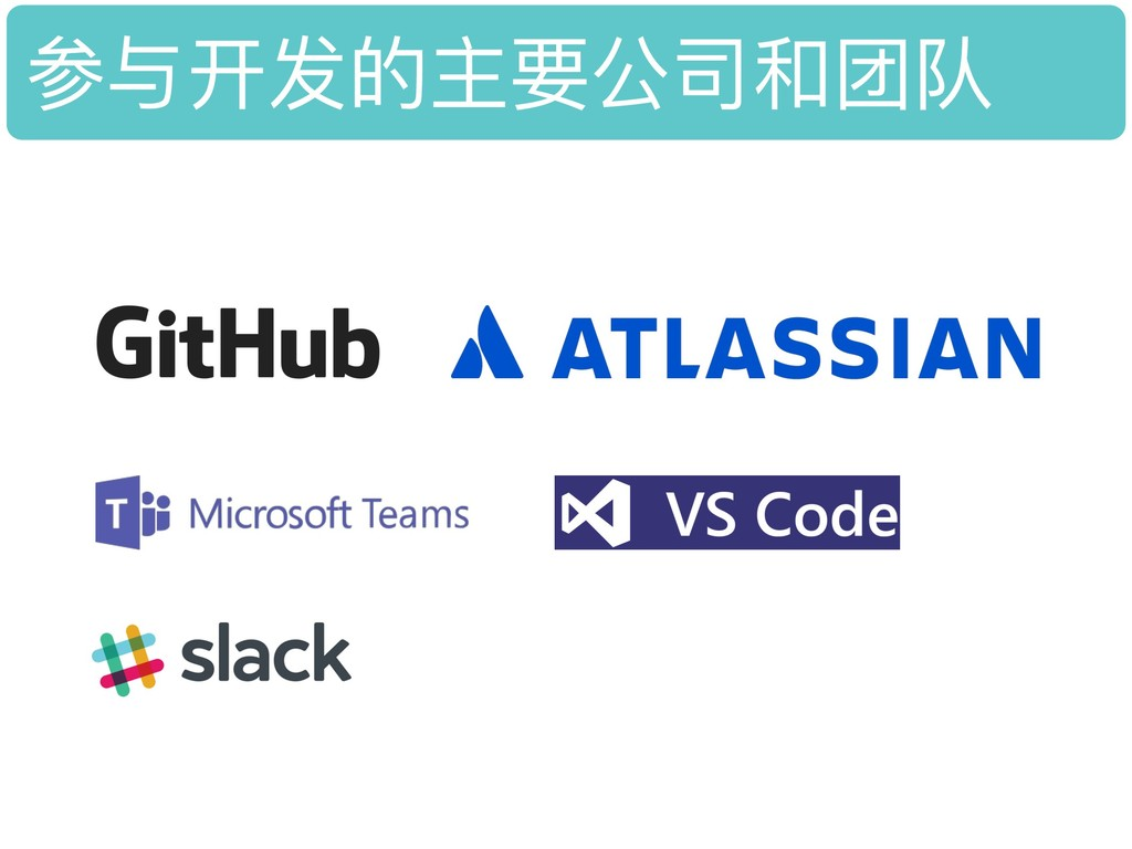 参与开发的主要公司和团队