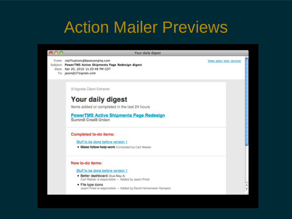 Action Mailer Previews