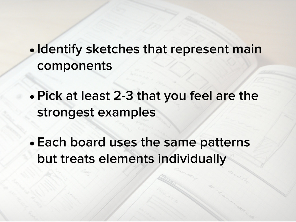 •Identify sketches that represent main componen...