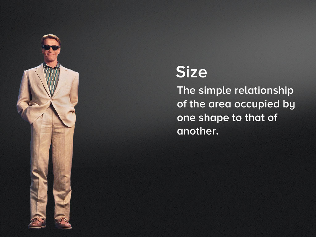 Size The simple relationship of the area occupi...
