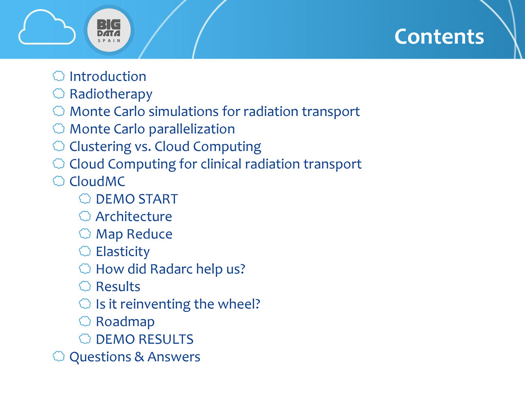 Contents Introduction Radiotherapy Monte Carlo ...