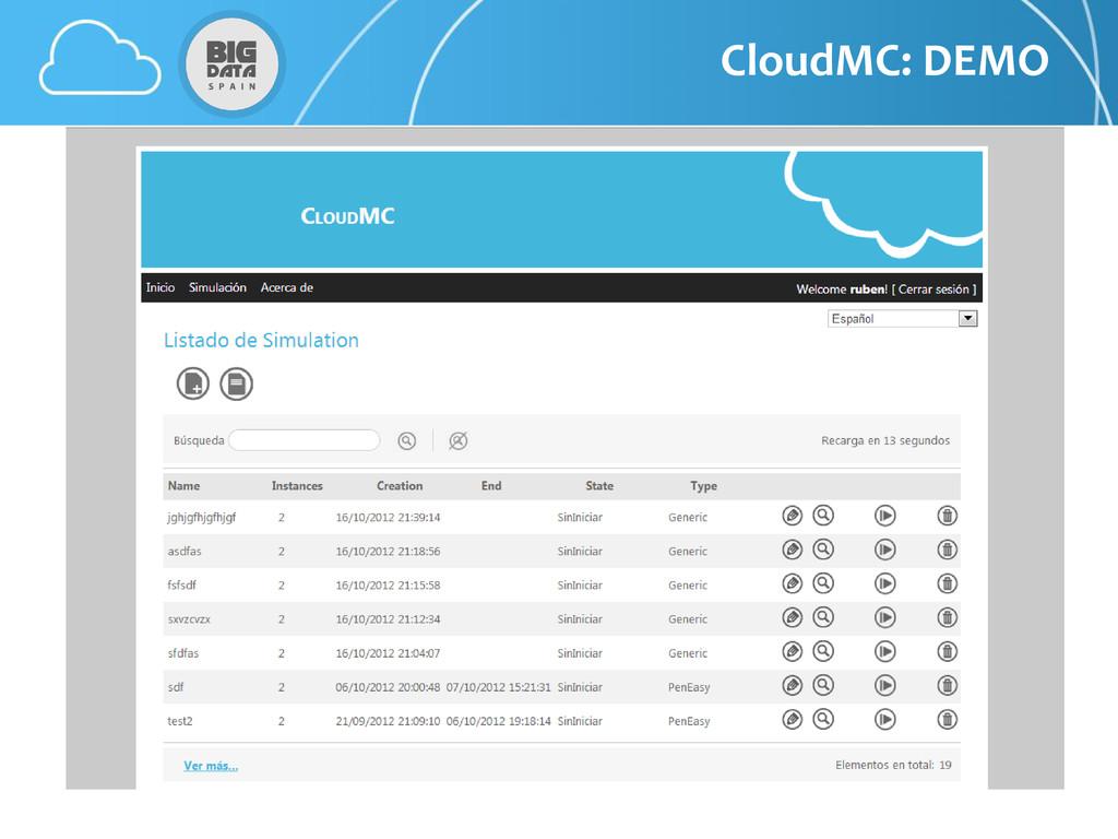 CloudMC: DEMO