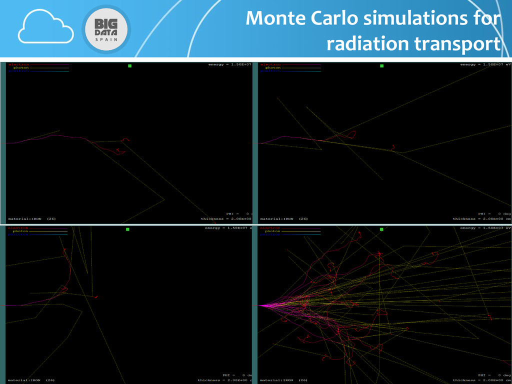 Monte Carlo simulations for radiation transport