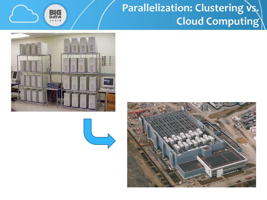 Parallelization: Clustering vs. Cloud Computing