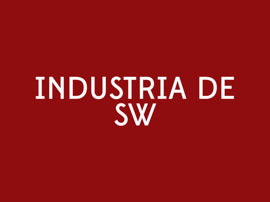 INDUSTRIA DE SW