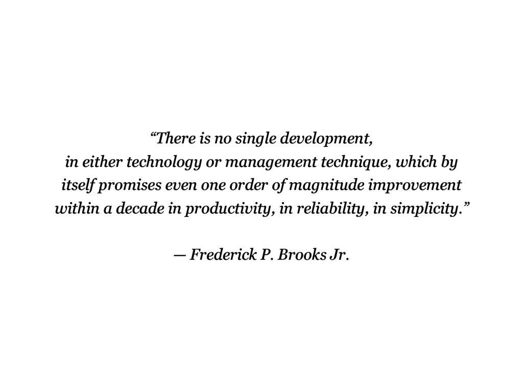 """There is no single development, in either tech..."