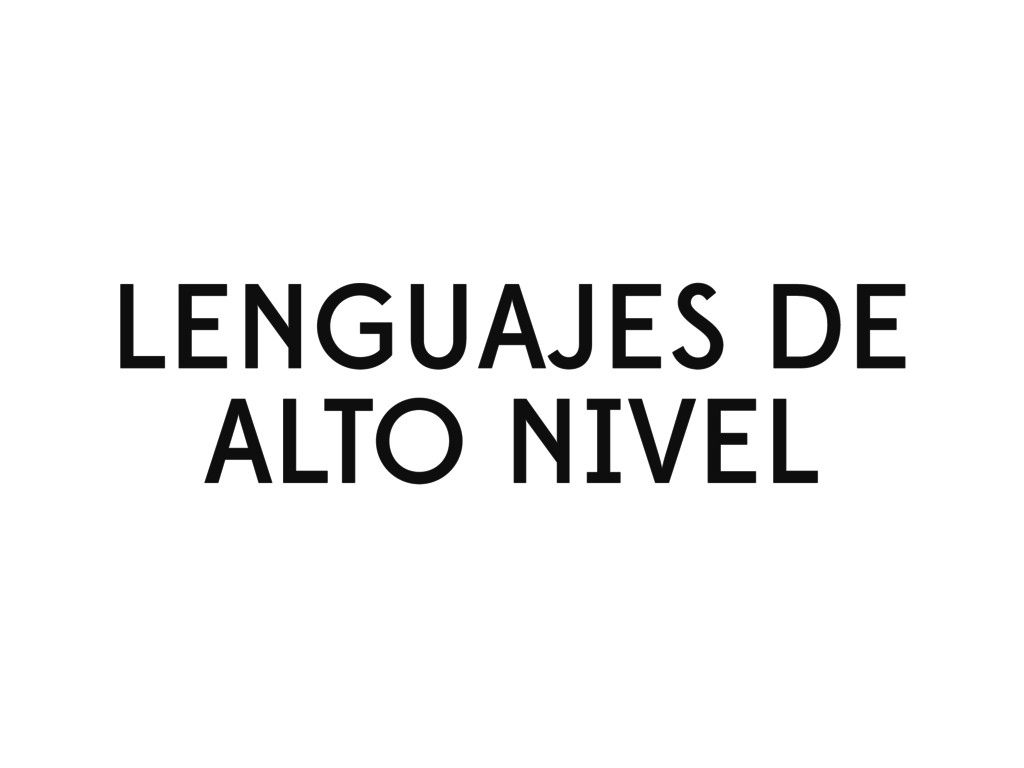 LENGUAJES DE ALTO NIVEL