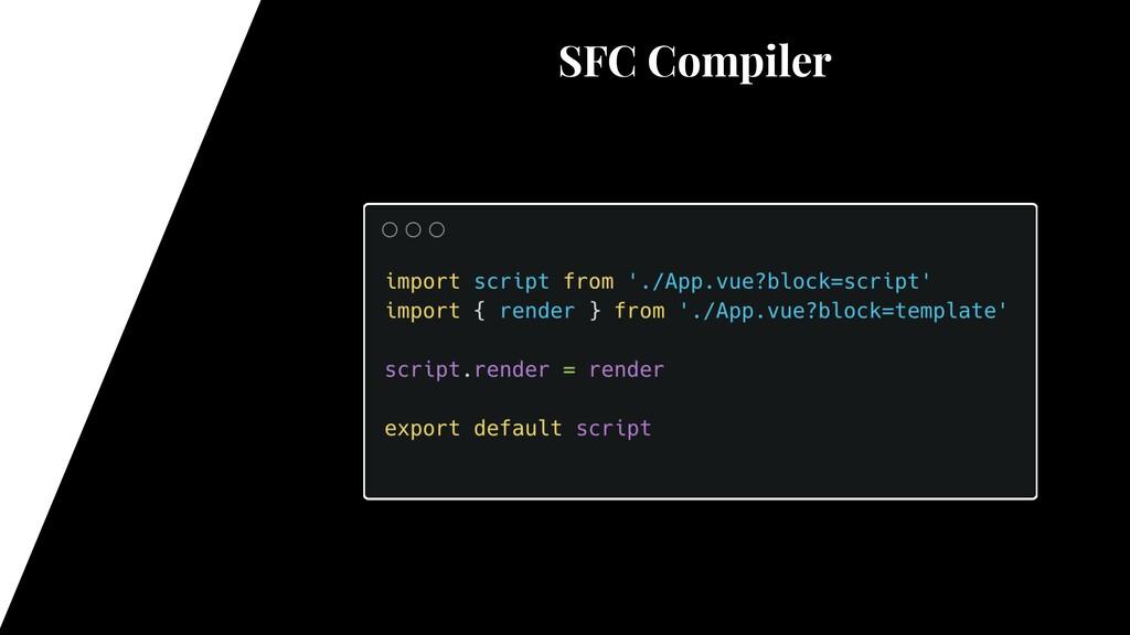 SFC Compiler @vue/compiler-sfc vue-loader rollu...