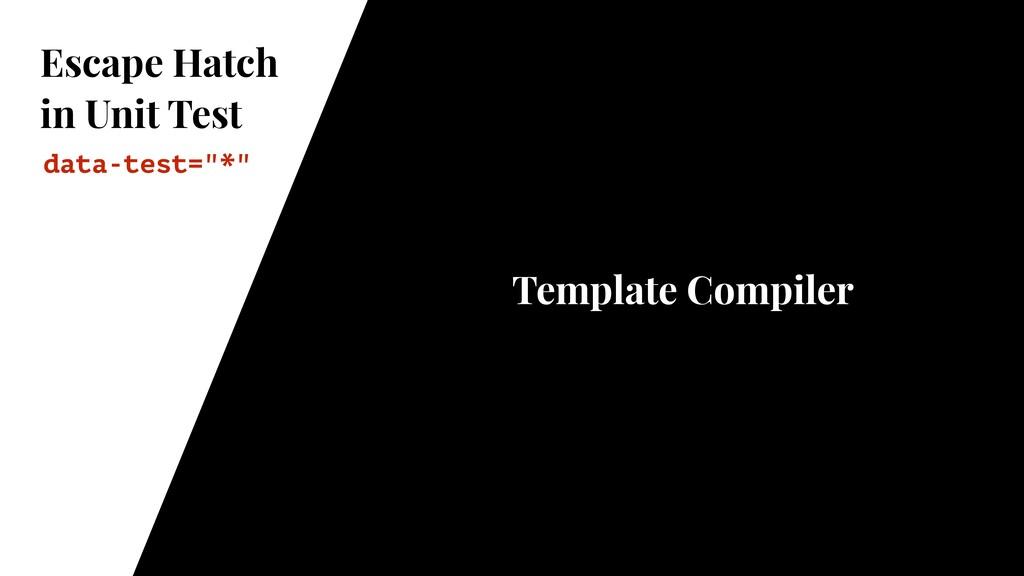 Escape Hatch in Unit Test Template Compiler dat...