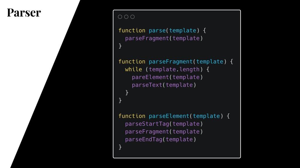 Parser @vue/compiler-core