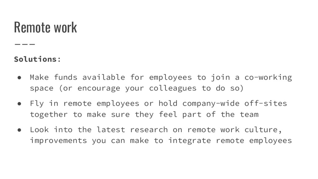 Remote work Solutions: ● Make funds available f...