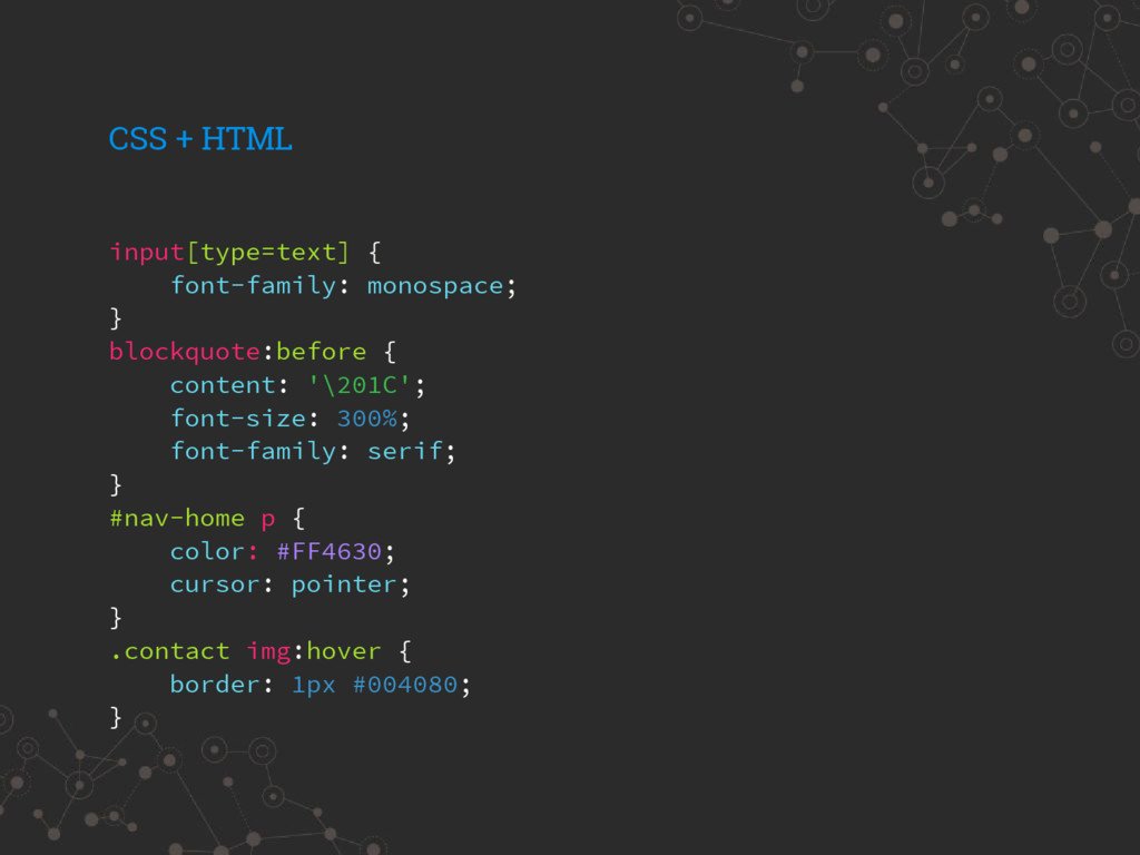 input[type=text] { font-family: monospace; } bl...