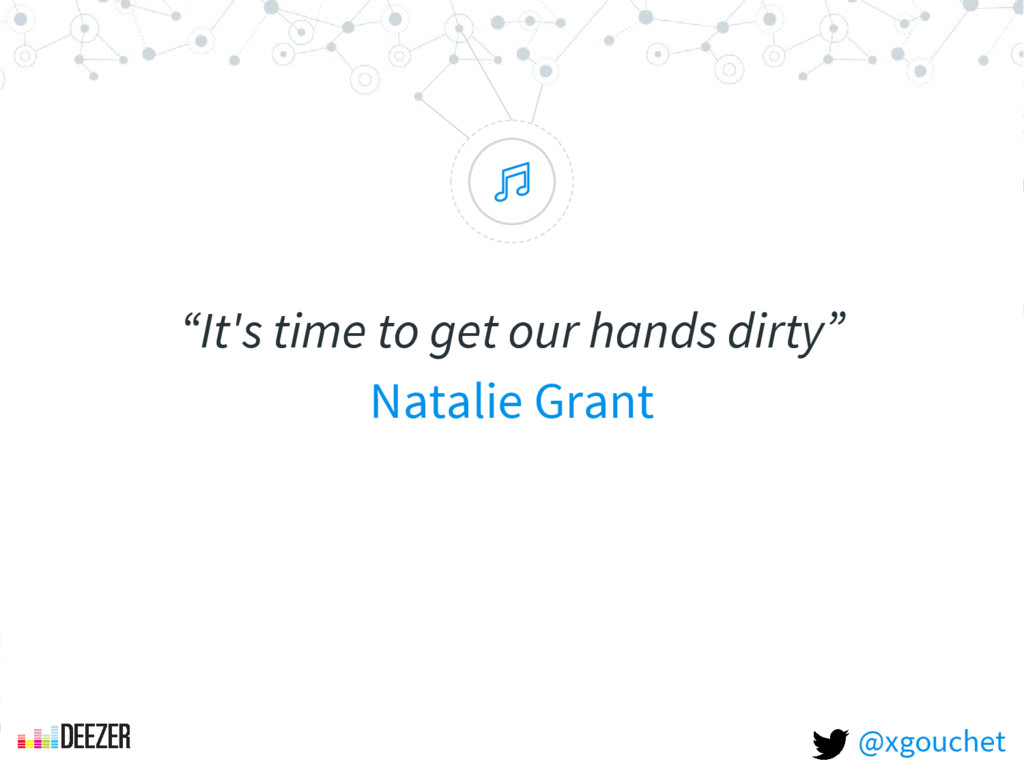 """ ""It's time to get our hands dirty"" Natalie Gr..."