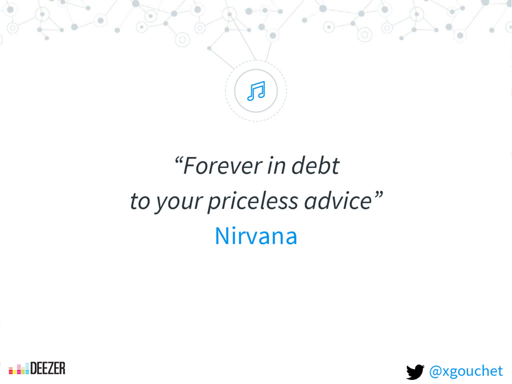 """ ""Forever in debt to your priceless advice"" Ni..."