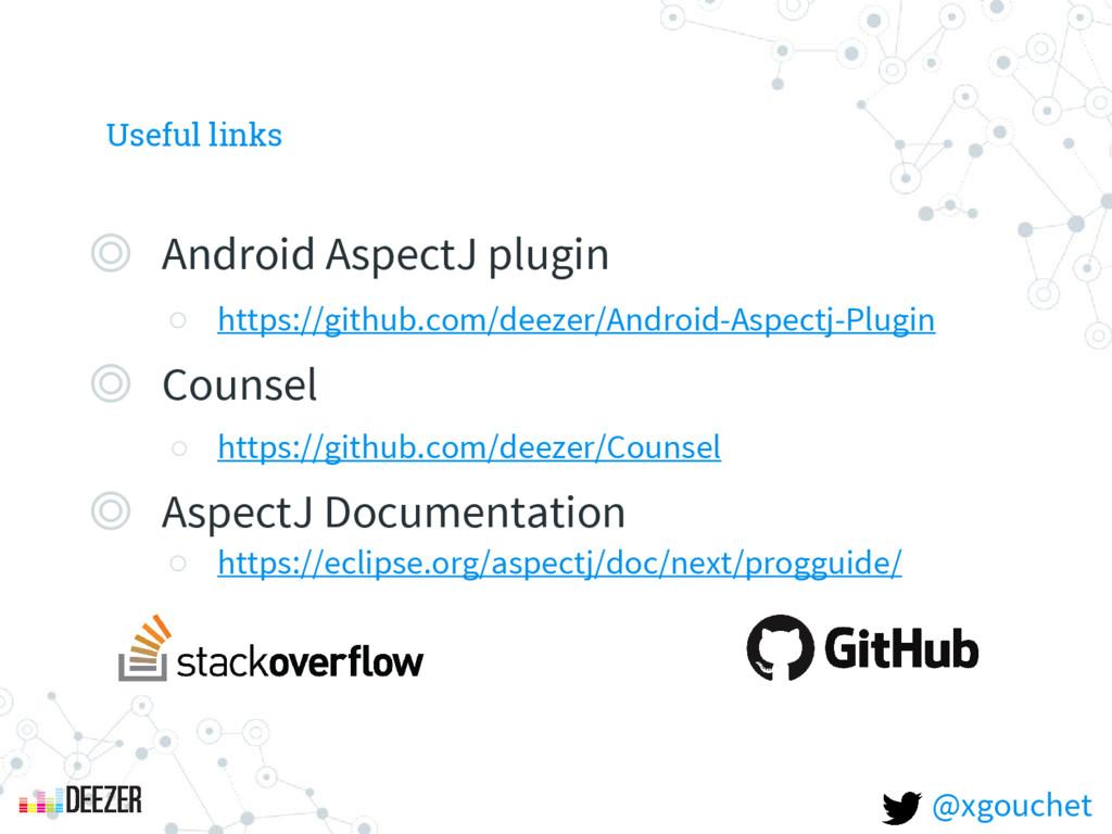 Useful links ◎ Android AspectJ plugin ○ https:/...