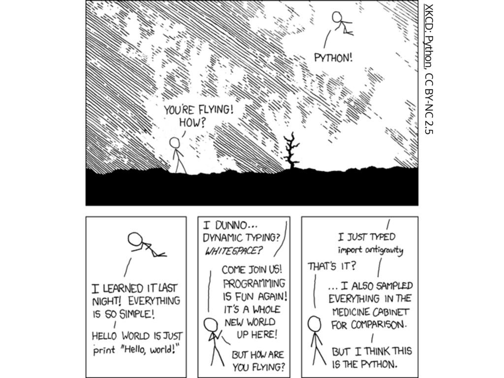 XKCD: Python, CC BY-NC 2.5