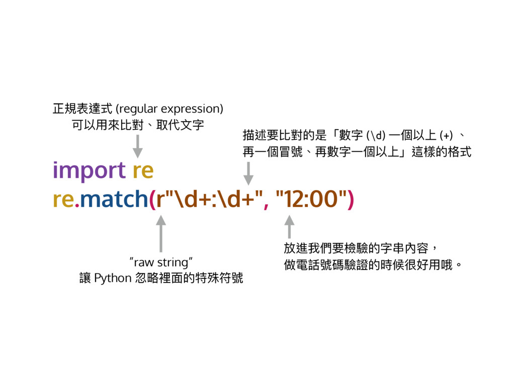 import re re.match(r""\d+:d+"", ""12:00"") ྋ憒蔭螈ୗ (...1024|768|?|85759e326c3d096d8039b734c97db906|False|UNLIKELY|0.3447374403476715