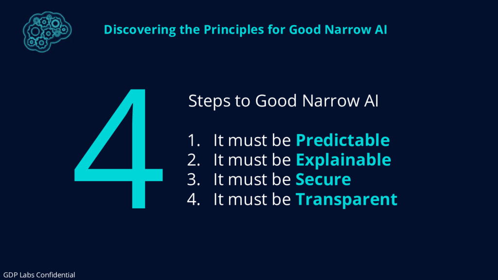 Discovering the Principles for Good Narrow AI S...